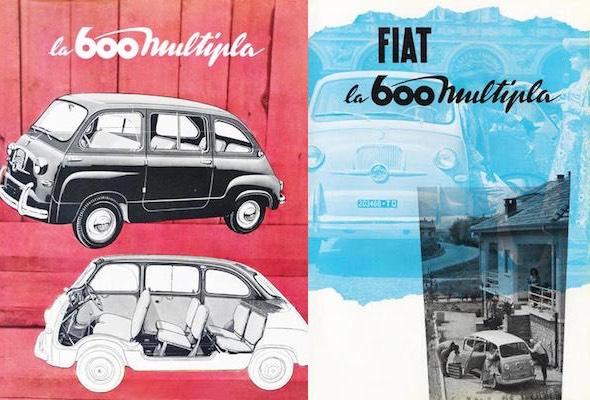 manifesto Fiat 600 multipla