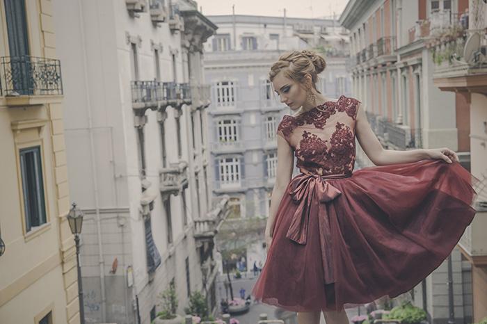 Alcune delle creazioni della sarta e stilista (foto di Sabrina Cirillo)