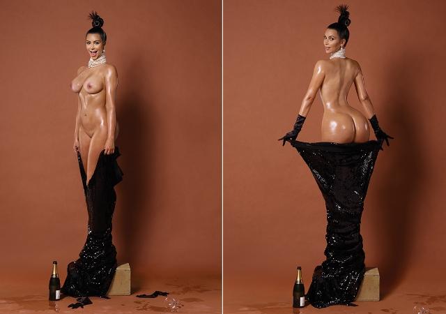 Le famose foto di Kim Kardashian su Paper