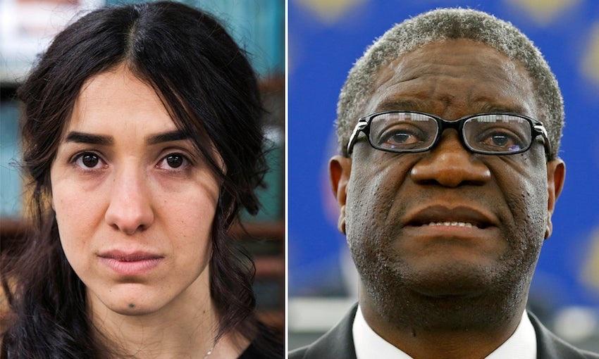 Nadia Murad e Denis Mukwege